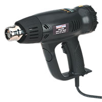 Sealey HS104K Deluxe Hot Air Gun Kit with LED Display 2000W 80-600 C