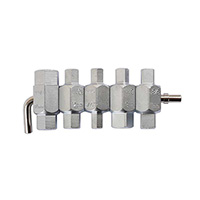 Laser Drain Plug Key Set 5Pc (1580)