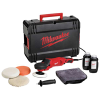 Milwaukee Dynacase Set: 2 x Polishing Sponge, Lambswool, Flexible Backing Pad, Cloth, 2 x