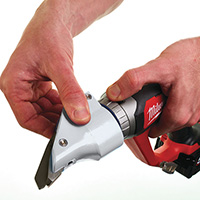 Milwaukee M18 1.2MM Brushed Metal Shears (Naked - no batteries or charger)