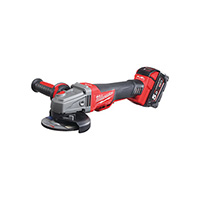 Milwaukee M18 FUEL Breaking Grinder Paddle Switch (2 x 5.0ah batteries, charger, dynacase)