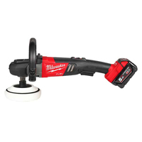 Milwaukee M18 FUEL Polisher (2 x 5.0Ah batteries, charger, dynacase)
