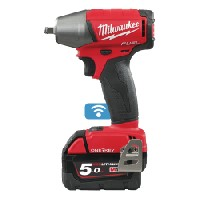 "Milwaukee ONE-KEY M18 Fuel Impact Wrench Friction Ring (3/8"" Dr) + 2 x 5a Batteries"
