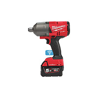 Milwaukee ONE-KEY M18 fuel Impact Wrench (2034nm) + 2 x 5amp Batteries