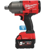 Milwaukee ONE-KEY M18 fuel Impact Wrench (2034nm) + 3 x 5amp Batteries