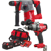 Milwaukee ONE-KEY M18 Combi Drill + Fuel SDS+ Twin Pack