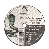 Normfest Cutting Disc 63 mm X 1.0 X 6.0