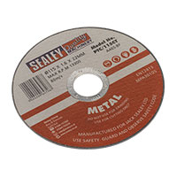 Sealey PTC/115CT Cutting Disc 115 x 1.6mm 22mm Bore