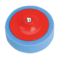 Sealey PTC/CH/M14-B Buffing & Polishing Foam Head 150 x 50mm M14 x 2mm Blue/Medium
