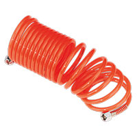 "Sealey SA335 PE Coiled Air Hose 5mtr x ?5mm with 1/4""BSP Unions"