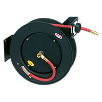 Sealey SA841 Retractable Air Hose Metal Reel 15mtr ?10mm ID Rubber Hose