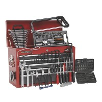 Sealey AP22509BBCOMB Topchest 9 Drawer with Ball Bearing Slides - Red/Grey & 205pc Tool