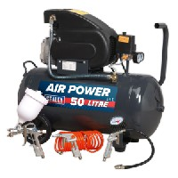 Sealey SAC5020EPK Compressor 50ltr Direct Drive 2hp with 4pc Air Accessory Kit