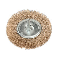 Sealey SFB100 Flat Wire Brush ?100mm with 6mm Shaft