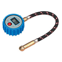 Sealey TST/PG981 Tyre Pressure Gauge Digital with Leader Hose & Quick Release 0-100psi