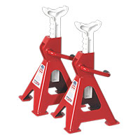 Sealey VS2002 Axle Stands (Pair) 2tonne Capacity per Stand Ratchet Type