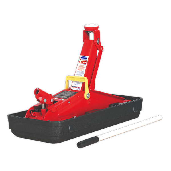 Sealey 1100CXD Trolley Jack Yankee 2ton Short Chassis with Storage Case