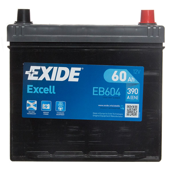 Exide Excel 005 Car Battery - 3 Year Guarantee
