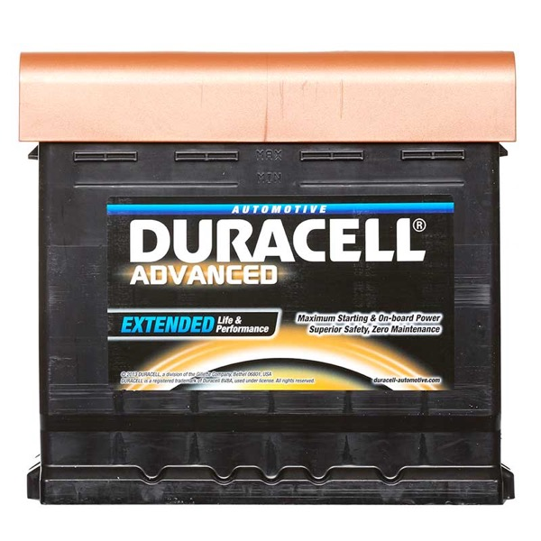 Duracell DA50 Advanced Car Battery Type 012 - 5 Year Guarantee