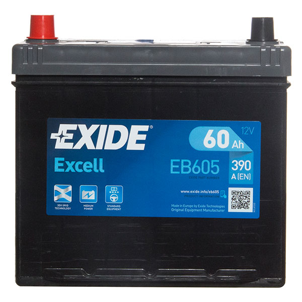 Exide Excel Battery(014 Car Battery - 3 Year Guarantee)