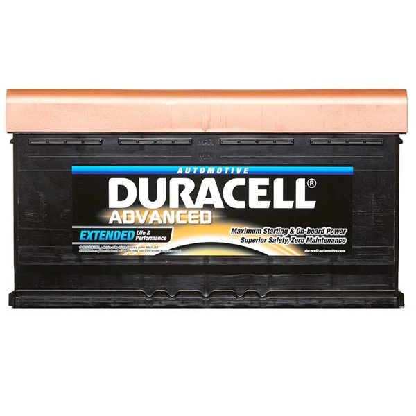 12V 63Ah Duracell Advanced Car Battery Type 027 600CCA Sealed OEM Replacement