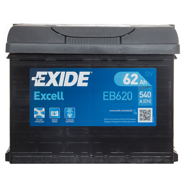 Exide Excel 027 Car Battery - 3 Year Guarantee