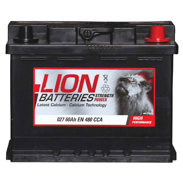 Lion 027 Car Battery - 3 Year Guarantee