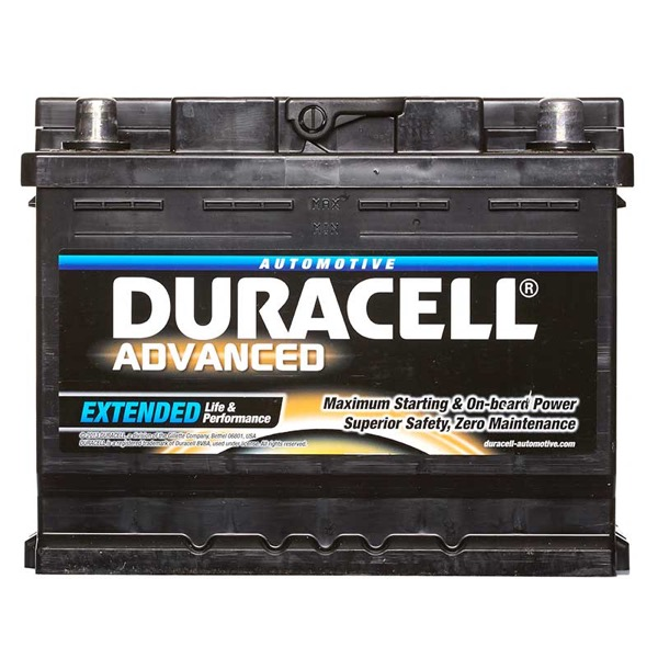 Duracell DA62H Advanced Car Battery Type 027 - 5 Year Guarantee