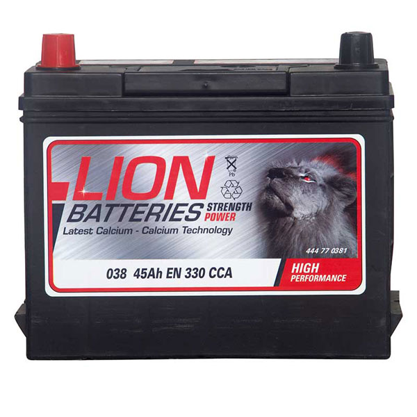Lion 038 Car Battery - 3 Year Guarantee
