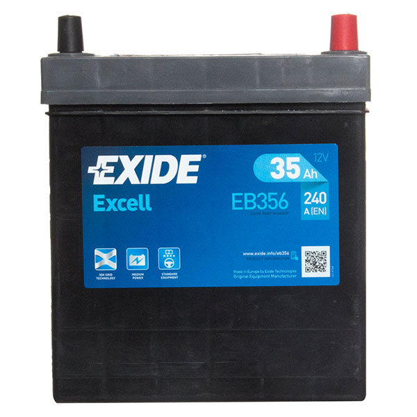 Exide Excel 054 Car Battery - 3 Year Guarantee