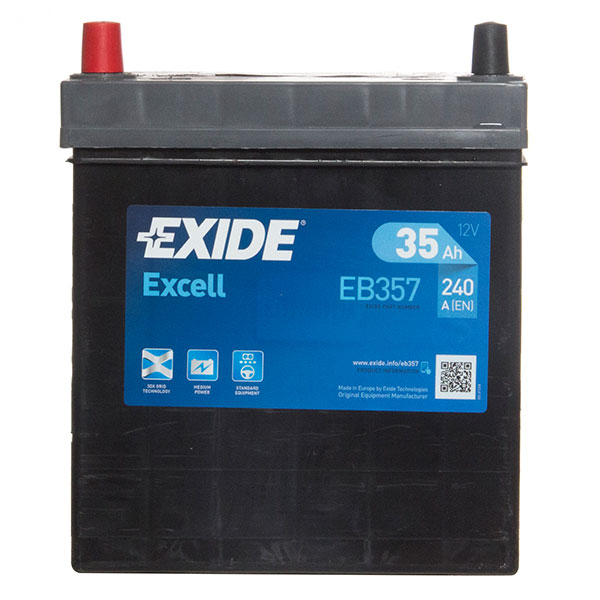 Exide Excel 055 Car Battery - 3 Year Guarantee