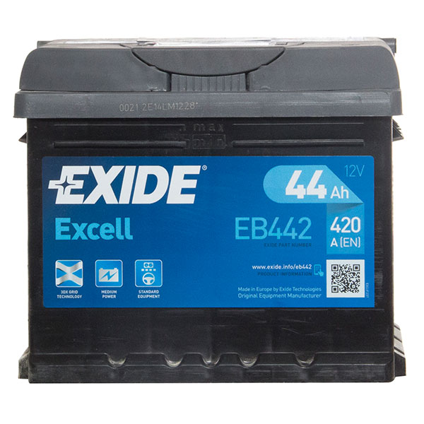 Exide Excel 063 Car Battery - 3 Year Guarantee