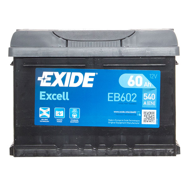 Exide Excel 075 Car Battery - 3 Year Guarantee