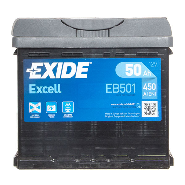 Exide Excel 077 Car Battery - 3 Year Guarantee