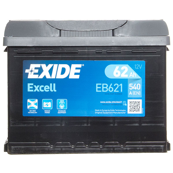 Exide Excel 078 Car Battery - 3 Year Guarantee