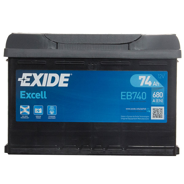 Exide Excel 096 Car Battery - 3 Year Guarantee