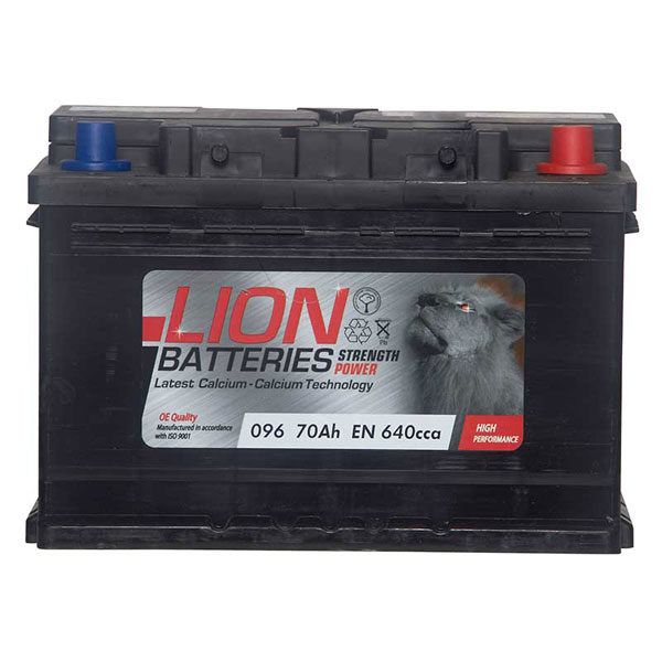 Lion 096 Car Battery - 3 Year Guarantee