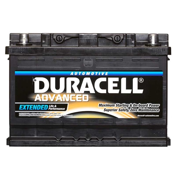Duracell DA74 Advanced Car Battery Type 096 - 5 Year Guarantee