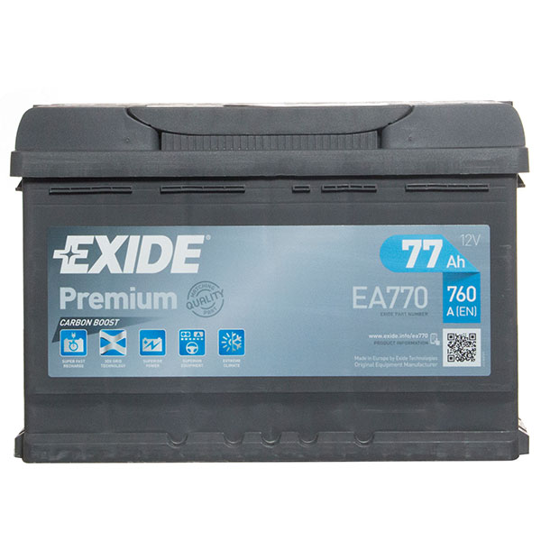 Exide Premium 096 Car Battery (77Ah) - 5 Year Guarantee
