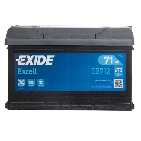 Exide Excell Battery 100 (71Ah) 3 Year Guarantee - W096SE