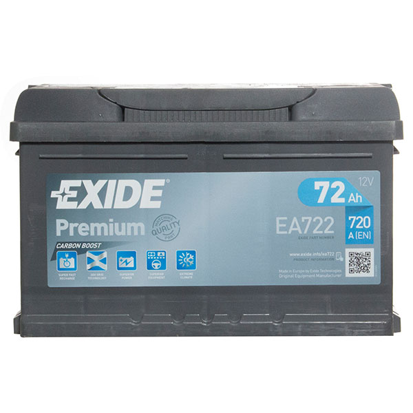 Exide Premium Battery 100 (72Ah) 4 Year Guarantee