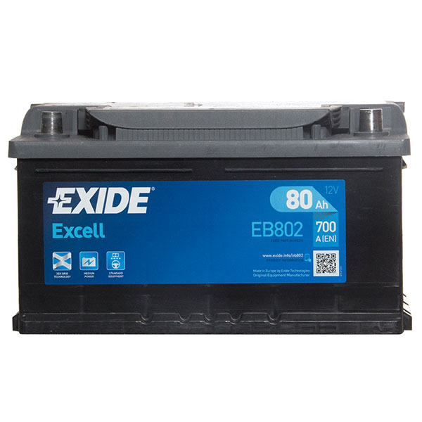 Exide Excel Car Battery 110 (80Ah) - 3 Year Guarantee