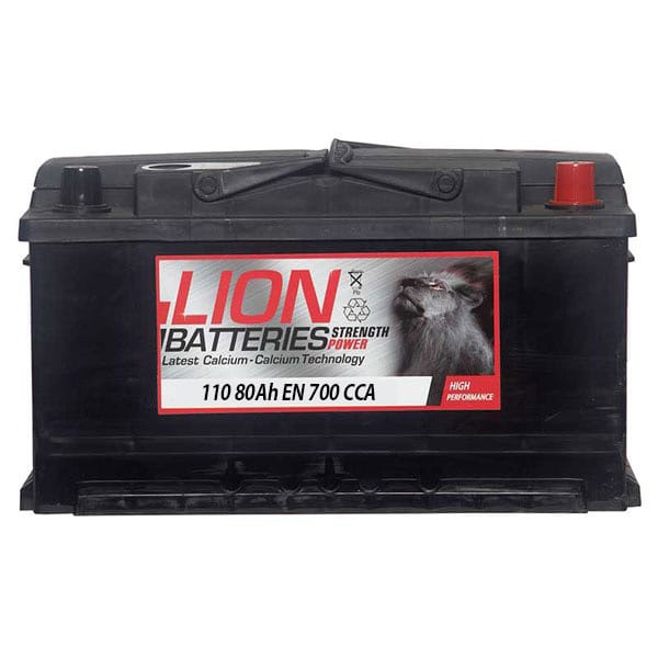 Lion 110 Car Battery - (80Ah) 3 Year Guarantee