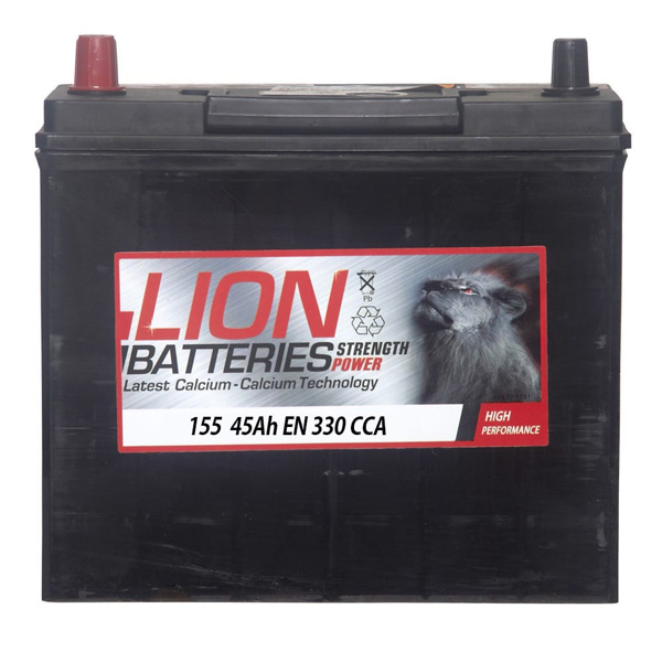 Lion Car Battery - 155 - 3 Year Guarantee