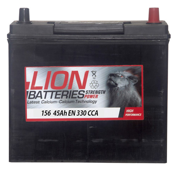 Lion Car Battery - 156 - 3 Year Guarantee