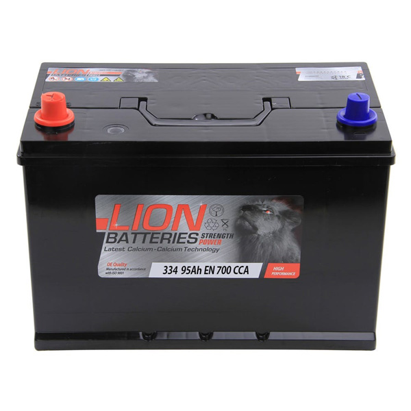 Lion 334 Car Battery - 3 Year Guarantee