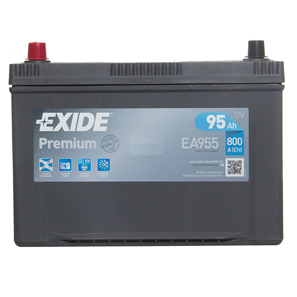 Exide Premium 334 Car Battery (95Ah) - 5 Year Guarantee