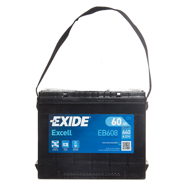 Exide Excel American Side Terminal Battery (60Ah) - 3 Year Guarantee