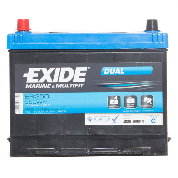 Exide ER350 Leisure & Marine Battery - 80Ah