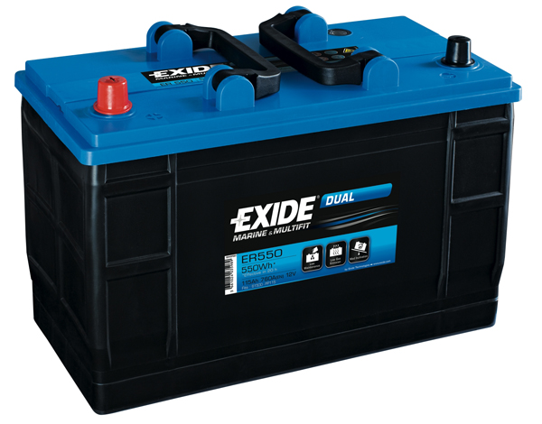 Exide ER550 Leisure & Marine Battery - 115Ah
